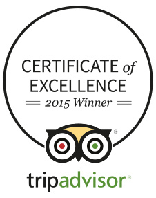 Tripadvisor 2015 Winner Certificate of Excellence