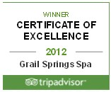 Tripadvisor 2012 Certificate of Excellence