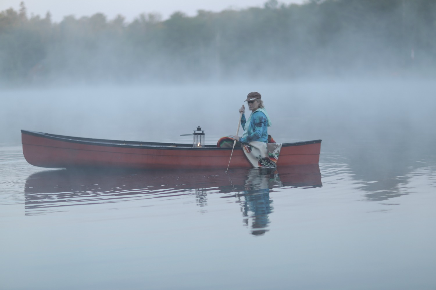 Take an early morning canoe ride