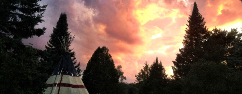 Sunset Teepee at Grail Springs