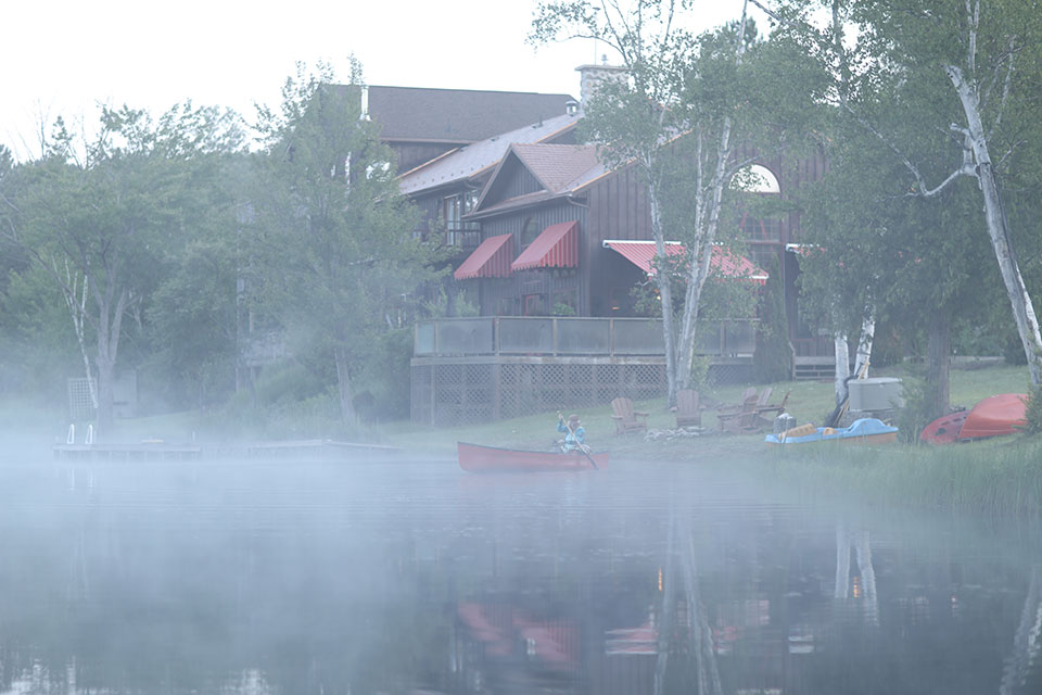 Misty Morning Paddle at Grail Springs